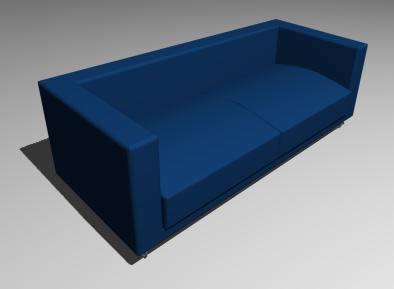 Planos de Sofa 2, en Sillones 3d – Muebles equipamiento