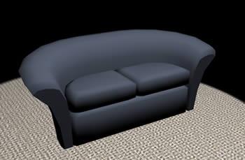 imagen Sofá 3d con materiales aplicados, en Sillones 3d - Muebles equipamiento