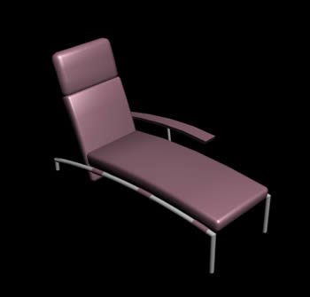 Sofá 3d con materiales aplicados, en Sillones 3d – Muebles equipamiento