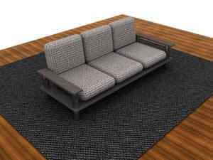 Sofa 3d, en Sillones 3d – Muebles equipamiento