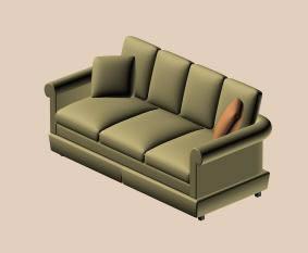 Sofá 3d, en Sillones 3d – Muebles equipamiento