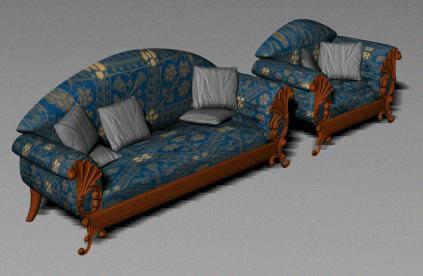 imagen Sofa 3d, en Sillones 3d - Muebles equipamiento