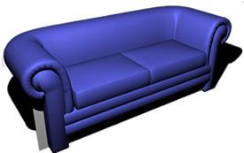 Sofá de 2 cuerpos 3d, en Sillones 3d – Muebles equipamiento