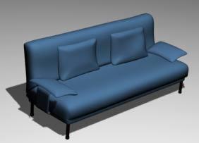 imagen Sofá doble 3d, en Sillones 3d - Muebles equipamiento