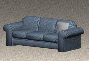 Sofa en 3d tres cuerpos, en Sillones 3d – Muebles equipamiento