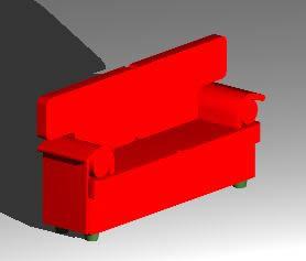 Planos de Sofa, en Sillones 3d – Muebles equipamiento
