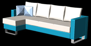 Planos de Sofá esquinero en 3d, en Sillones 3d – Muebles equipamiento