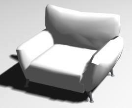 imagen Sofa individual 3d, en Sillones 3d - Muebles equipamiento
