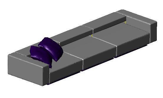 imagen Sofa minimalista, en Sillones 3d - Muebles equipamiento