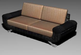 Sofa para 3dmax, en Sillones 3d – Muebles equipamiento