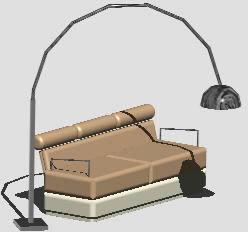 imagen Sofá y lampara de diseño, en Sillones 3d - Muebles equipamiento