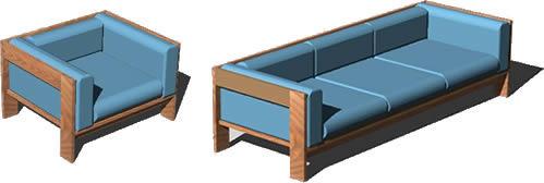 Planos de Sofás bastiano 3d, en Sillones 2d – Muebles equipamiento