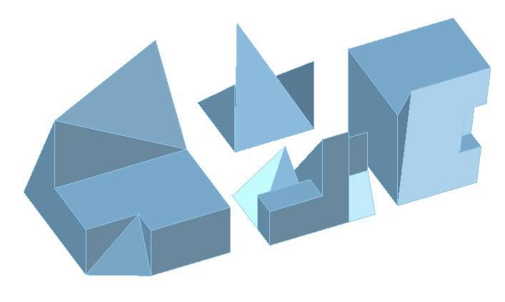 Planos de Solidos tridimensionales, en Ejercicios varios – Dibujando con autocad