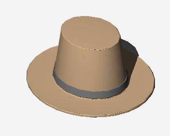 Planos de Sombrero 3d, en Objetos varios – Muebles equipamiento
