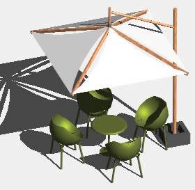 imagen Sombrilla 3-d, en Equipamiento - Parques paseos y jardines