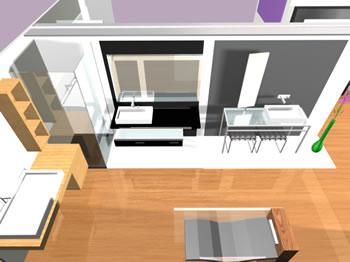 Stand de  feria de baños en 3d, en Baños – Muebles equipamiento