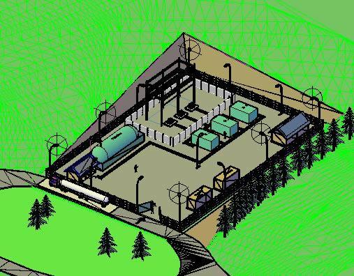 imagen Subestacion  3d, en Proyectos - Electricidad iluminación
