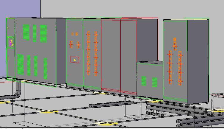 imagen Subestacion compacta 3d, en Tendidos electricidad - Infraestructura