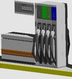 Planos de Surtidor 3d, en Estaciones de servicio – Proyectos