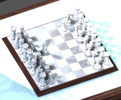 Tablero con fichas de ajedrez 3d, en Juegos – Muebles equipamiento