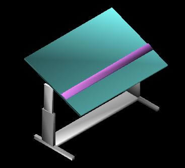 Planos de Tablero de dibujo 3d, en Oficinas y laboratorios – Muebles equipamiento