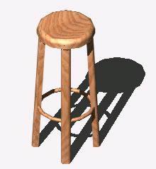 Planos de Taburete 3d, en Muebles varios – Muebles equipamiento