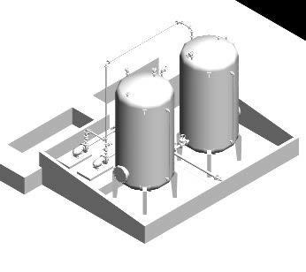 imagen Tanque de acido zulfurico 3d, en Maquinaria e instalaciones industriales - Máquinas instalaciones