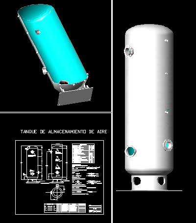 Planos de Tanque de almacenamiento de aire, en Maquinaria e instalaciones industriales – Máquinas instalaciones