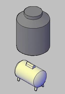 Planos de Tanque gas – tinaco agua, en Tanques – Máquinas instalaciones