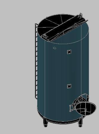 imagen Tanque para almacenamiento de agua 3d, en Tanques - Máquinas instalaciones