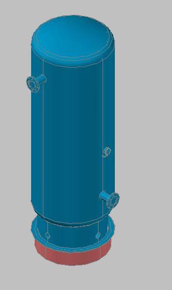 Planos de Tanque pulmon 3d, en Tanques – Máquinas instalaciones