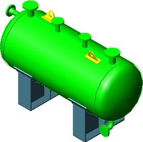 Planos de Tanque sumidero  3d por luis e. perilla, en Instalaciones cloacales y pluviales – Instalaciones