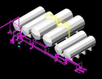 Planos de Tanques aceites 3d, en Instalaciones varias – Instalaciones