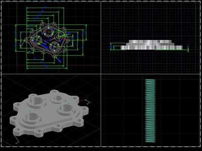 Planos de Tapa de una maquina, en Válvulas tubos y piezas – Máquinas instalaciones