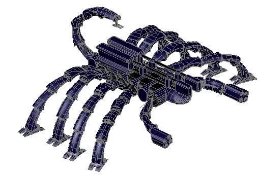 Planos de Tarantula en 3d, en Juegos – Muebles equipamiento