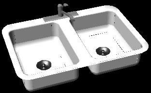 Planos de Tarja 3d, en Cocinas – Muebles equipamiento