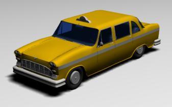 Taxi 3d, en Automóviles en 3d – Medios de transporte