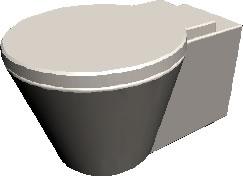 Taza de baño en 3d con materiales aplicados, en Baños – Muebles equipamiento