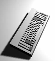 Teclado 3d, en Informática – Muebles equipamiento