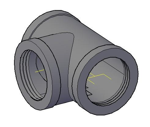 Planos de Tee galvanizada, en Válvulas tubos y piezas – Máquinas instalaciones