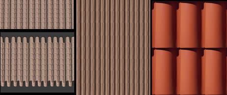 Tejas coloniales, en Tejados – Texturas