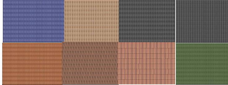 Tejas francesas, en Tejados – Texturas