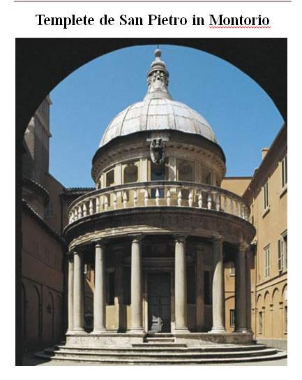 Templo de san pietro in montorio, en Monografías guías y estudios varios – Varios