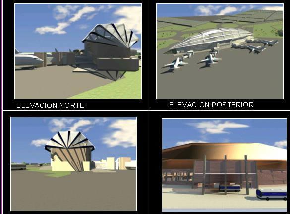 imagen Terminal aerea, en Aeropuertos - Proyectos