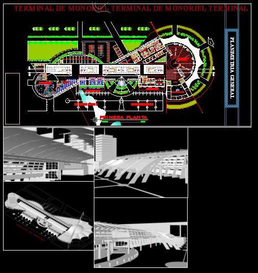 imagen Terminal de monorriel, en Medios de transporte - Proyectos