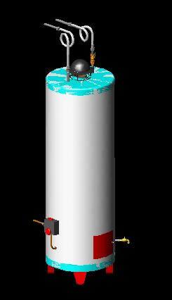 Planos de Termotanque 3d, en Calefacción – Climatización