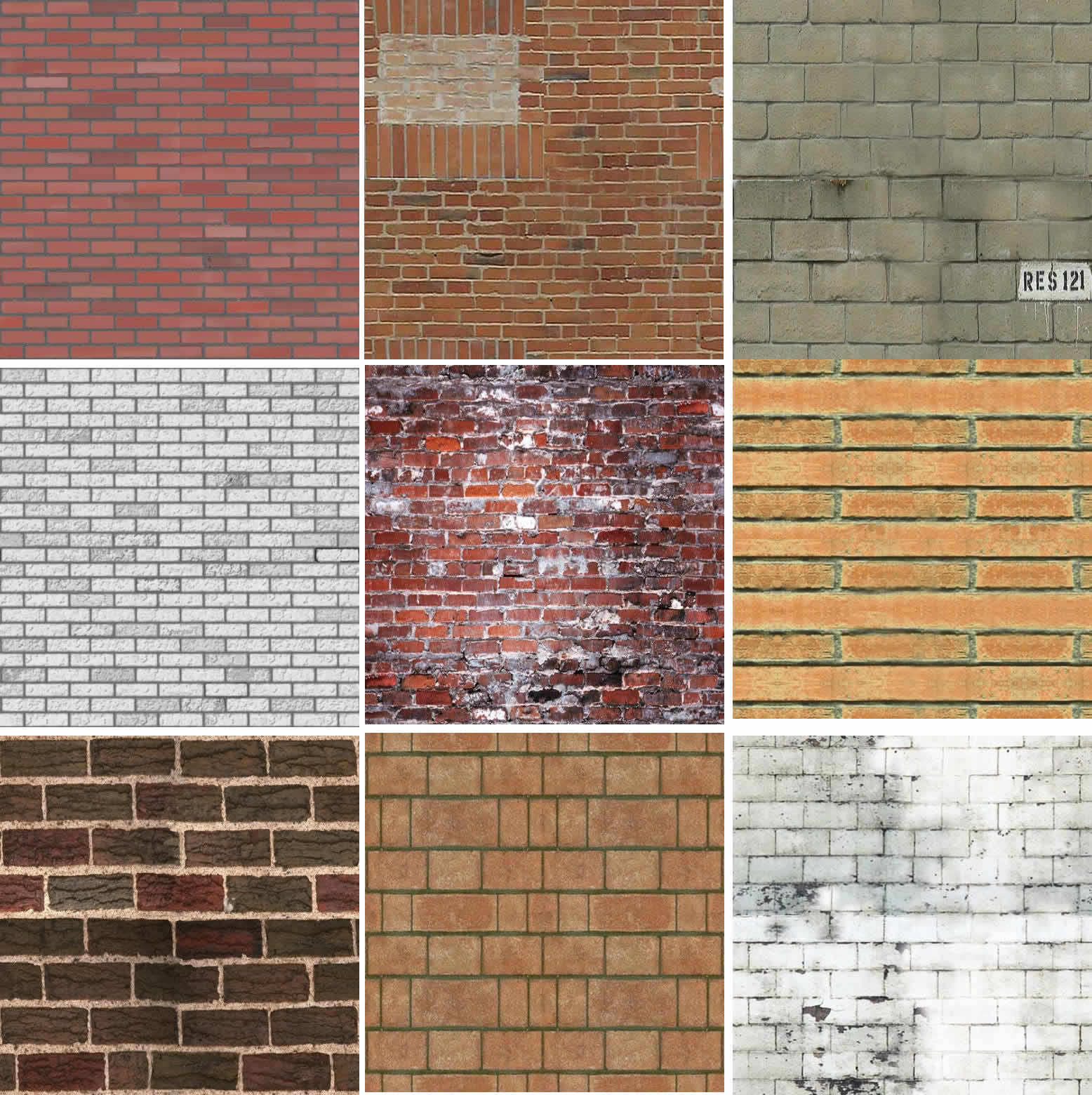 Textura de ladrillos, en Ladrillo visto – Texturas