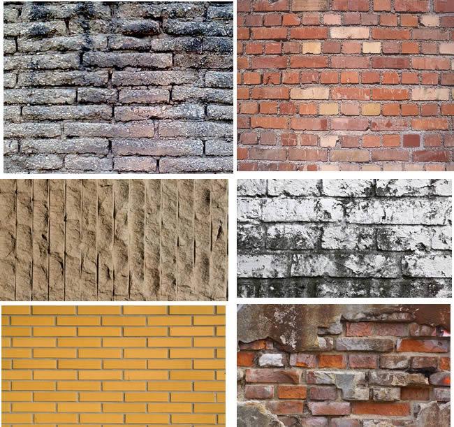 Textura de muros de ladrillo, en Ladrillo visto – Texturas