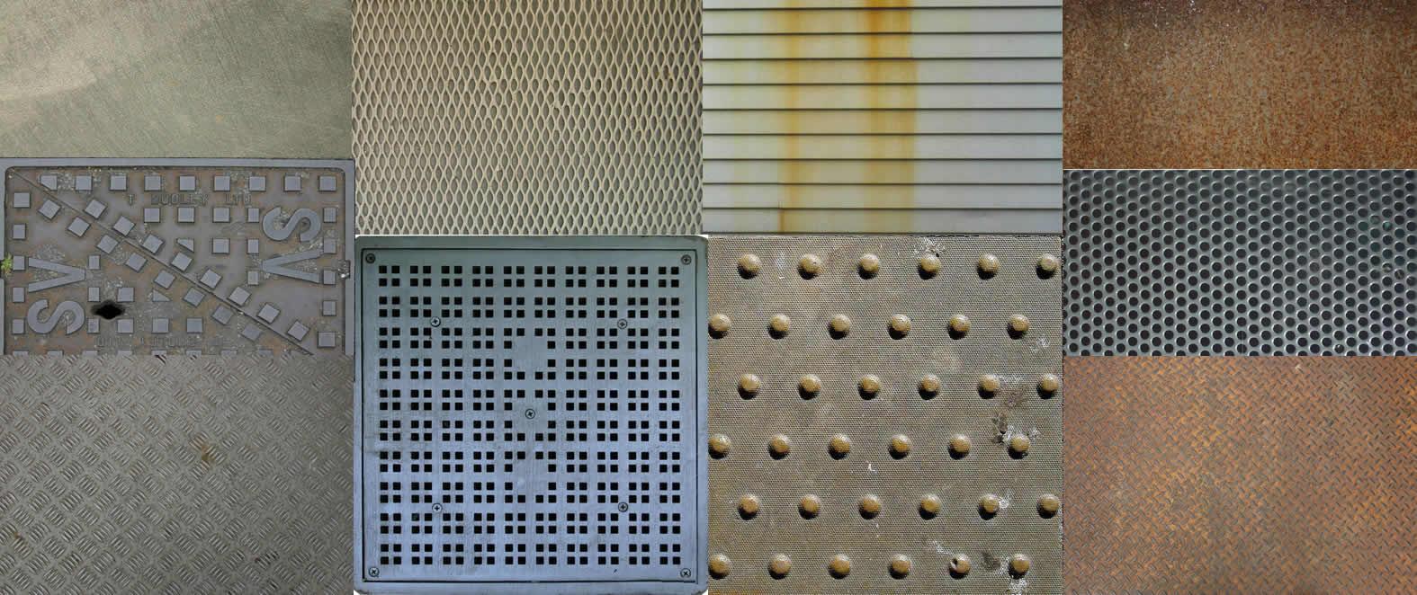Textura metales, en Metales – Texturas