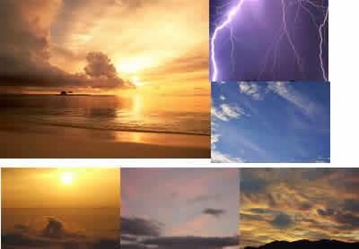 Texturas cielos, en Cielos – Objetos paisajísticos